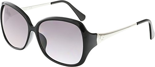 Guess Women's Gradient GUF245-BLK-35 Black Butterfly - Oversized Guess Sunglasses