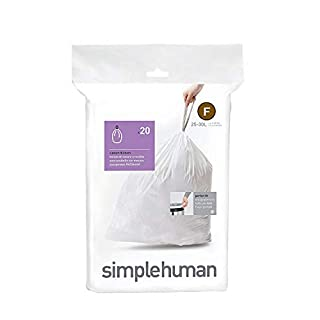 simplehuman Custom Fit Drawstring Trash Bags, 20 Pack, 20 Count
