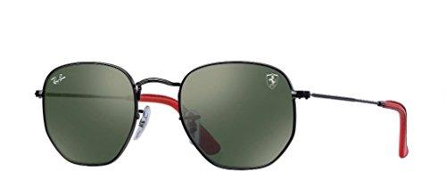 Ray-Ban Men's Metal Unisex Square Sunglasses, Black, 51 - Hexagonal Ray Ban