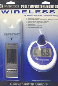 Fiberstars Pool Temperature Monitor - Floating Temperature Sensor w/ Wireless Indoor Display by Fiberstars