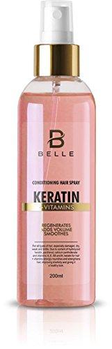 Belle® queratina Vitaminas pelo acondicionado Spray – Spray para pelo Fortalecimiento y regeneración – para