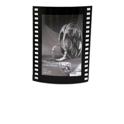 Marco de fotos curvado, diseño de rollo de película de ...