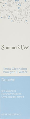 Water Vinegar - Summer's Eve Douche Extra Cleansing Vinegar & Water 4.5 Fl Oz /133 Ml(Pack of 6)