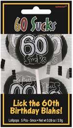 (Over The Hill Novelty 60 Sucks Lollipops Candy Gift Humor Parties Celebrations)