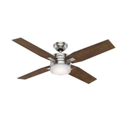 Hunter Mercado 50 in. Indoor Brushed Nickel Ceiling Fan