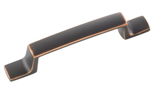 Hickory Hardware P3113-OBH 3-Inch Rotterdam Cabinet Pull, Oil-Rubbed Bronze Highlighted (Cabinet Barn Bar Pottery)
