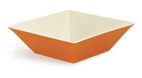 Siciliano ML-249-ST Square Bowl, 12.8 quart, Orange/Ivory (Pack of 3)