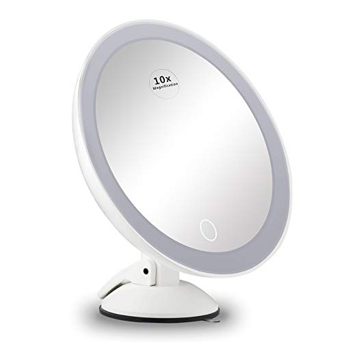 10X Magnifying Mirror with Lights,Lighted Magnifying Makeup Mirror with Lights Led Lighted Makeup Mirror with Touch…