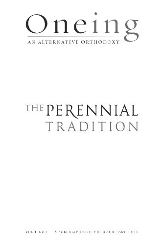 Book cover from Oneing: The Perennial Traditionby Richard Rohr