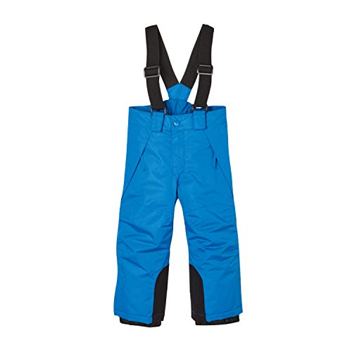 BiyAN9m Baby/Toddler Chest Insulated Snow Bib Overalls, Snow Pant with Suspenders Snow Bib (Blue, 3T)