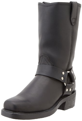 Womens Black Harness Boots - 3