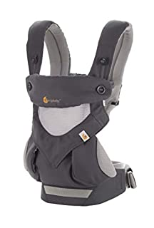 Ergobaby's Award-Winning 360 Baby Carrier All Carry Positions with Cool Air Mesh offers every carry positions in a cool and breathable fabric to get out and about with baby, from summer hikes to leisurely strolls.MAXIMUM COMFORT FOR BABY- With its un...