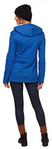 Happy Mama. Para mujer sudadera capucha de lactancia inserción extraíble. 039p Azul Real