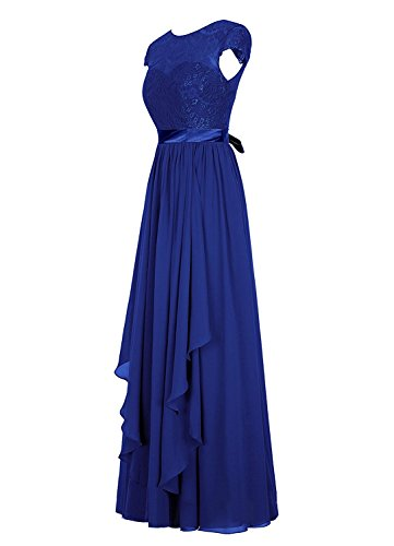 Grape Women's Bridal Party Dress with Lace Chiffon Long Bridesmaid Short Amore Dress Sleeves g7cn5qxSO