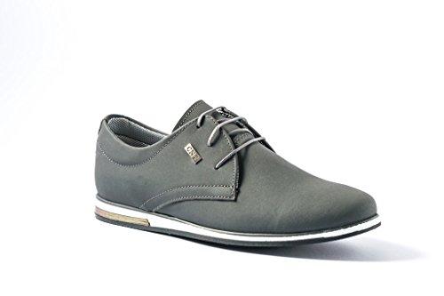 Neu Herrenschuhe Sneakers Schnür Business Halbschuhe Sneaker Casual Grau 112