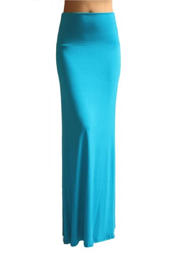 Azules Women'S Rayon Span Maxi Skirt - Solid x-large ()