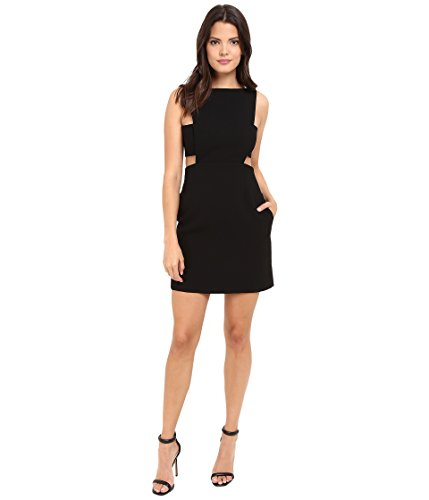 JILL JILL STUART Women's Short Crepe Dress with Cut Out Details Black Dress 14 by Jill Jill Stuart