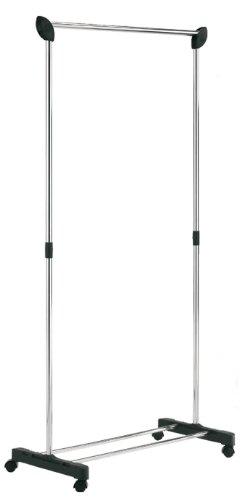 MSV-Stahl, Chrom-Rollkleiderständer, Schwarz