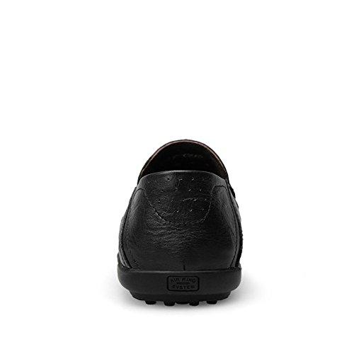 di Uomo Scarpe Moda Slip Casual On Morbidi Loafer Slipper da Mocassini Nero Cricket Driving da Design alla wEASH0