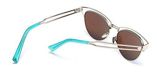 lunettes polarisées du soleil inspirées de en métallique Lennon Bleu style rond retro vintage Film cercle wxnxTUI