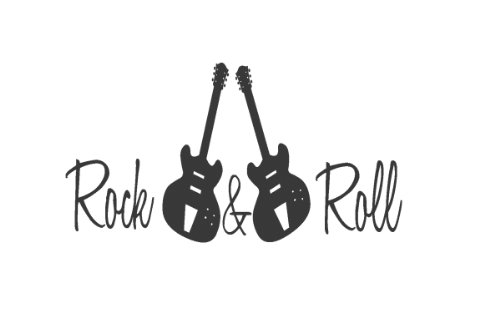 Guitar Wall Decal - Rock and Roll Wall Decal - Vinyl Wall Art Sticker - Boy Bedroom Wall Decal - Music Guitar Design Quotes by Quote Designs