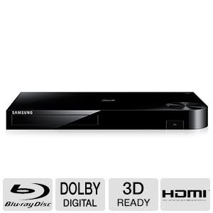 Samsung 4K Upscaling 3D Blu-ray Disc Player With Built In Wi-Fi, Full Web Browser, AllShare, UDHD Upscale, DTS Surround Sound, Dolby True, BD Wise, Plus Superior 6Ft High Speed HDMI ()