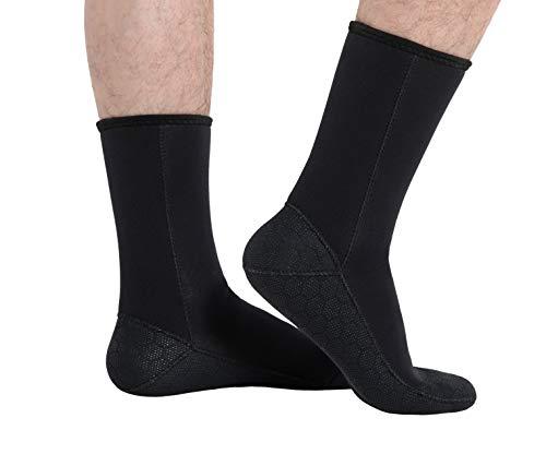 KORAMAN Neoprene Fin Socks 3mm Wetsuits Booties for Scuba Free Diving Snorkeling Water Activities-Protection Thermal