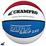 Used, CHAMPRO Rubber Basketball, Scarlet/White/Royal, Size for sale  Delivered anywhere in USA