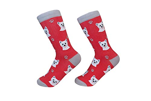 Highland Terrier Westie Terrier Dog Breed Socks Unisex Sock Daddy by E&S - Sock Terrier Womens