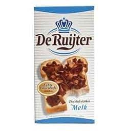 De Ruijter Milk Chocolate Flakes (Chocoladevlokken Melk)- 10.6oz - 300g (pack of 3)
