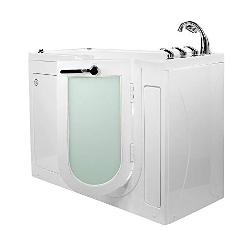 Walks Hydro (Ella's Bubbles OA2660HMH-R-HB Lounger Hydro Massage, Microbubble and Heated Seat Walk-In Bathtub with Right Outward Swing Door, Fast Fill Faucet, 2