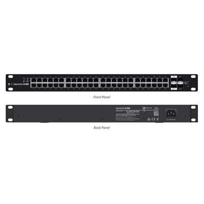 "Ubiquiti Networks, Inc - Ubiquiti Edgeswitch Es-48-500W Layer 3 Switch - 48 Ports - Manageable - 48 X Poe+ - 4 X Expansion Slots - 10/100/1000Base-T, 1000Base-X - Rack-Mountable ""Product Category: Routing/Switching Devices/Switches & Bridges"""