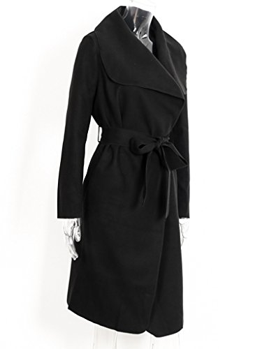 Femme Longue Noir Vintage Oversized Automne Jacket Veste Large Ceinture Femme Manteau Simplee avec Apparel Blouson Hiver pqxS11