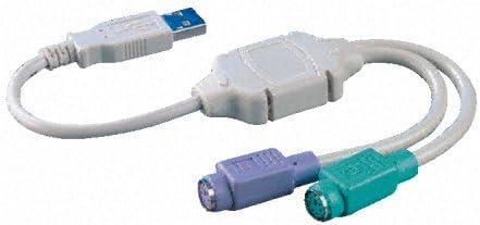 Bigtec USB 2 x PS/2 adaptador para Tastatur y ratón, ratón USB adaptador, teclado USB adaptador, USB 2 x PS2 de conexión, adaptador de USB a cable del ...