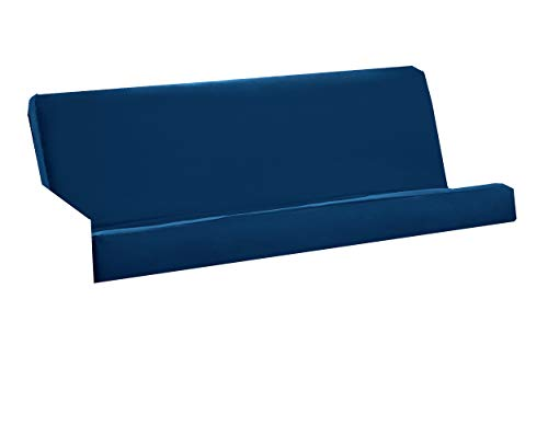 Royal Sleep Products Futon Cover with 3 Sided Zipper - Factory Direct - Full or Queen - Solid Colors - Premium Cotton/Polyester Blend - Futon Mattress Cover (Navy, Queen (Fits ()