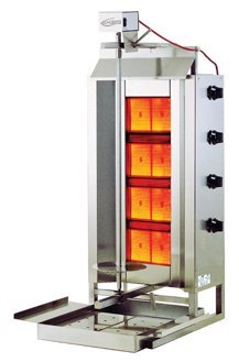 Axis Equipment AX-VB4 304 Stainless Steel Gas Vertical Broiler, 4 Burner