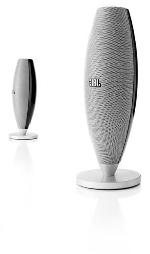 JBL Duet II High Performance Speaker System for Portable Music and PC - Black/Silver (Pair)