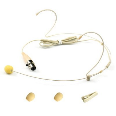 YPA MM1-C4S Wireless Headset Headworn Microphone TA4F adapter for SHURE Beige