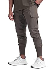 GINTPK Men s Cargo Jogger Slim-Fit Tapered Sweatpants
