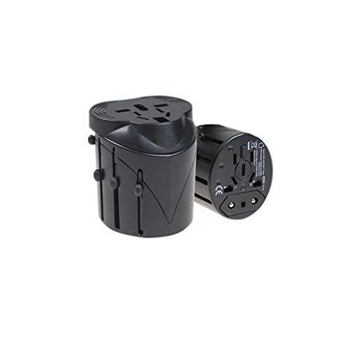Vanki Multifunctional Conversion Travel All In One Power Adapter Plug Global Converter Travel Abroad Socket Universal Travel Adapter Blac