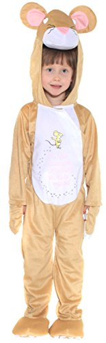 Girls Boys Childrens The Gruffalo Mouse Animal World Book Day Week TV Book Film Fancy Dress Costume 3-10yr (3-5 Years)