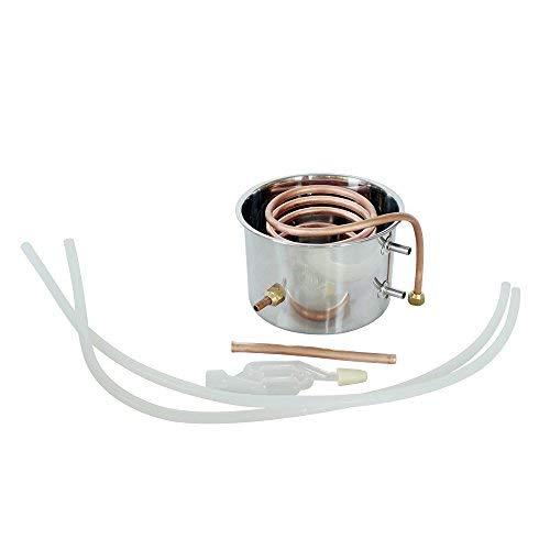 ECO LLC 5Gal Alcohol Distiller Water Distiller Stainless Copper 20L Boiler Home Brew Kit by ECO LLC (Image #5)