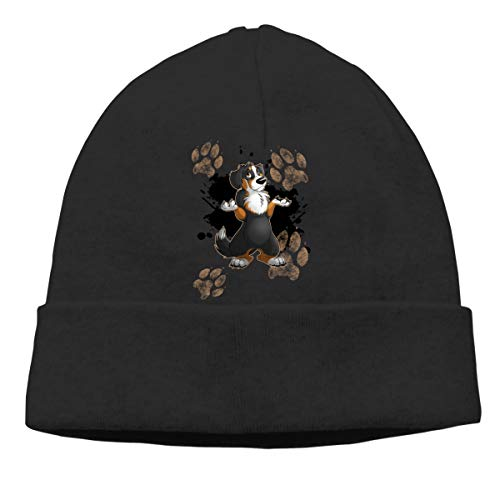 Michgton Helpless Bernese Mountain Dog Beanie Hat Ski Hats Men&Women Slouchy Soft