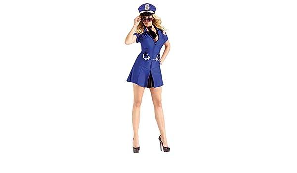 Horror-Shop Chica Policía Sexy Mujeres de Disfraces M/L: Amazon.es ...