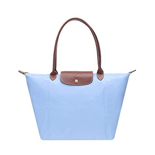 Big 653 Handbags Capacity Big Leather Champ Folding Shoulder Long Women Bag Delamode Canvas A30 wqn4Cx7I6a