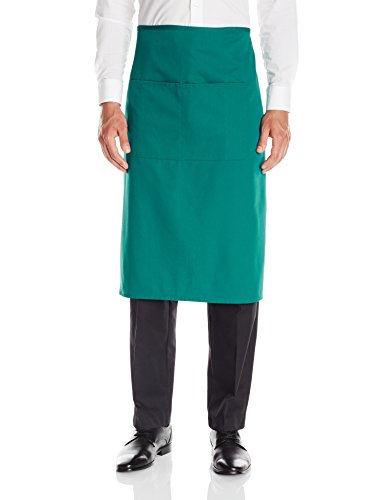 Dickies Chef Waist Apron,Full Bistro,Hunter Green, One Size