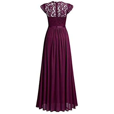 Miusol Women's Formal Floral Lace Evening Party Maxi Dress: Clothing