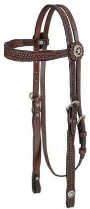 Royal King Basket weave Browband Headstall