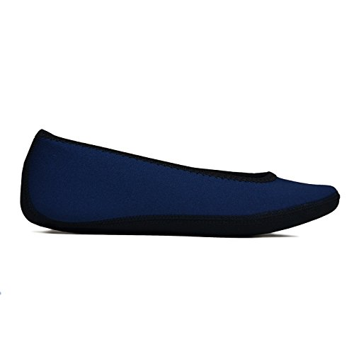 Socks Navy Slipper amp; House Women's Shoes Ballet Nufoot Dance Indoor Flats Exercise Shoes Socks Flats Slippers Yoga Shoes amp; Medium Best Travel Flexible Slippers Foldable Shoes YpSqwHwxz