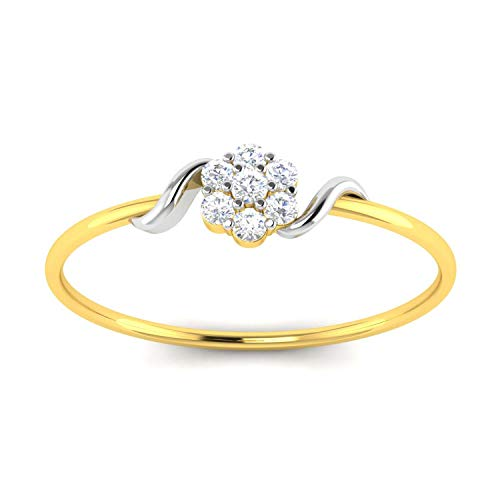 Avsar 18KT Yellow Gold and American Diamond Ring for Women